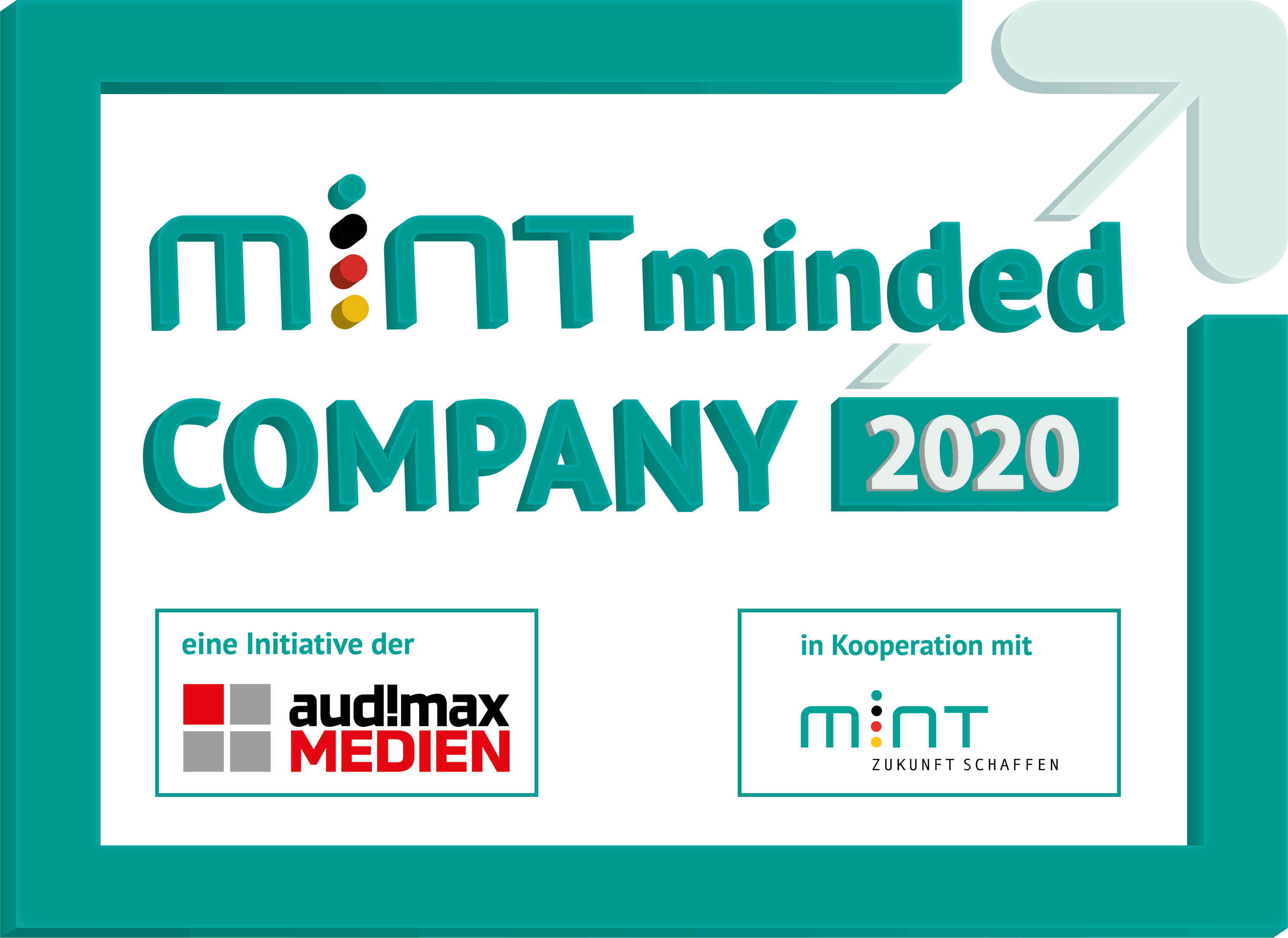 Siegel MINT minded Company 2020 für accantec