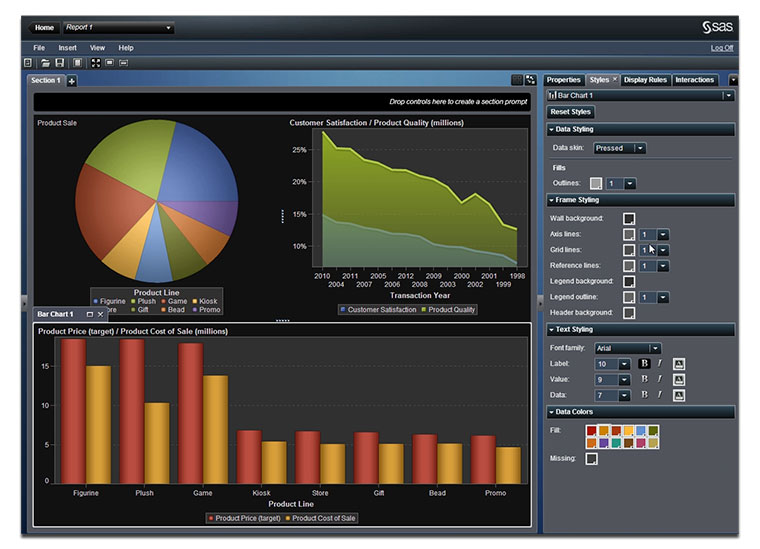 SAS Visual Analytics Reporting
