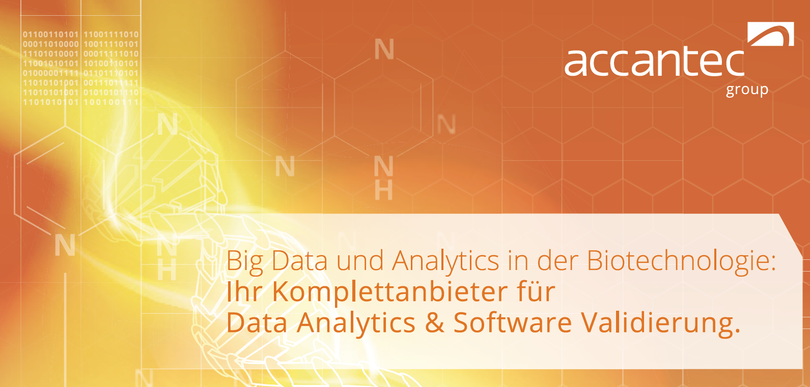 accantec group Big Data und Data Analytics in der Biotechnologie DTB 2018